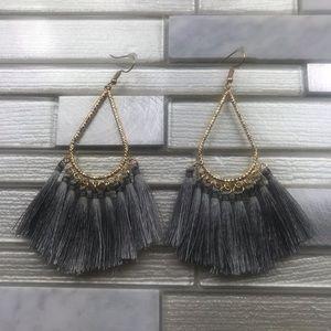 Boho Tassel Earring Gray